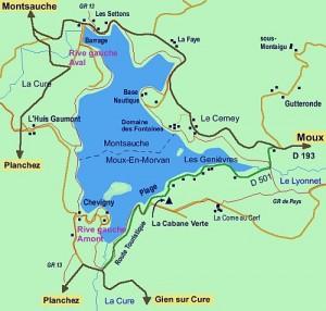 Kaart lac des settons